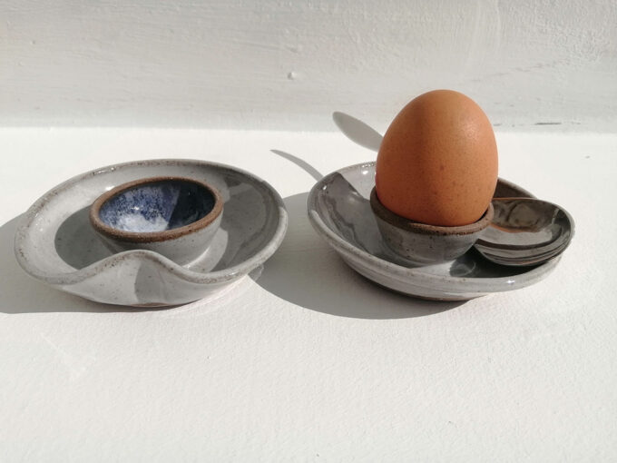 pottery eggcup