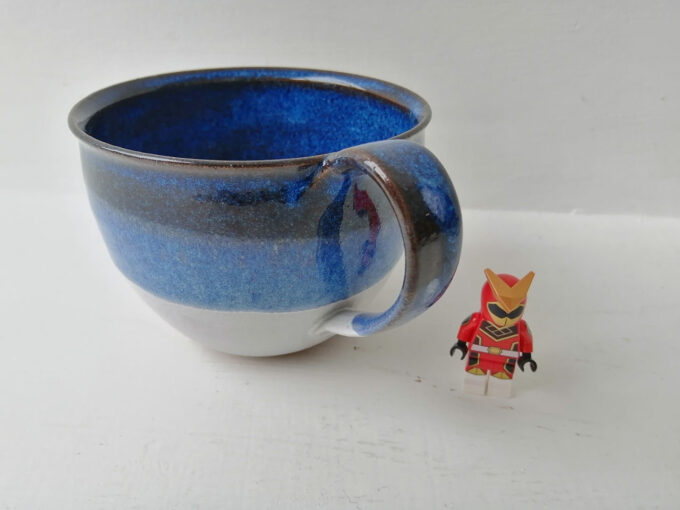 cappucino mug blue