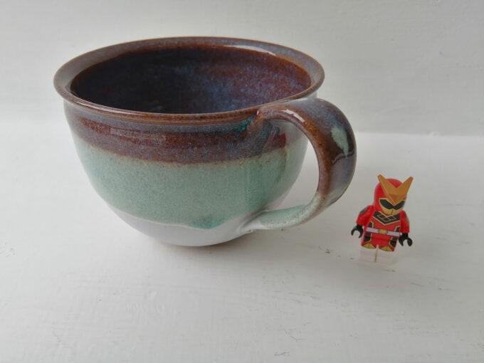 ceramic cappuccino mug -lichen
