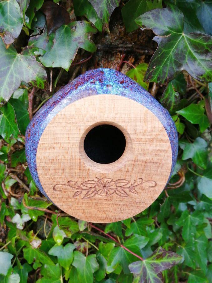 Lichen Ceramic Birdhouse