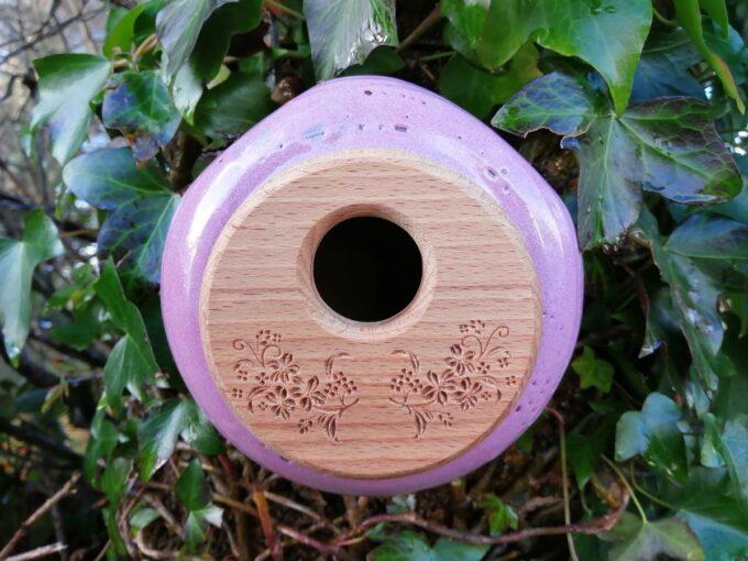 Pink Ceramic Birdhouse